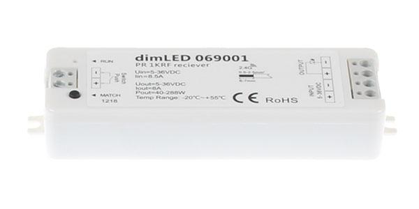069001 Přijímač dimLED 069001 pro jednobarevný LED pásek 12–24V