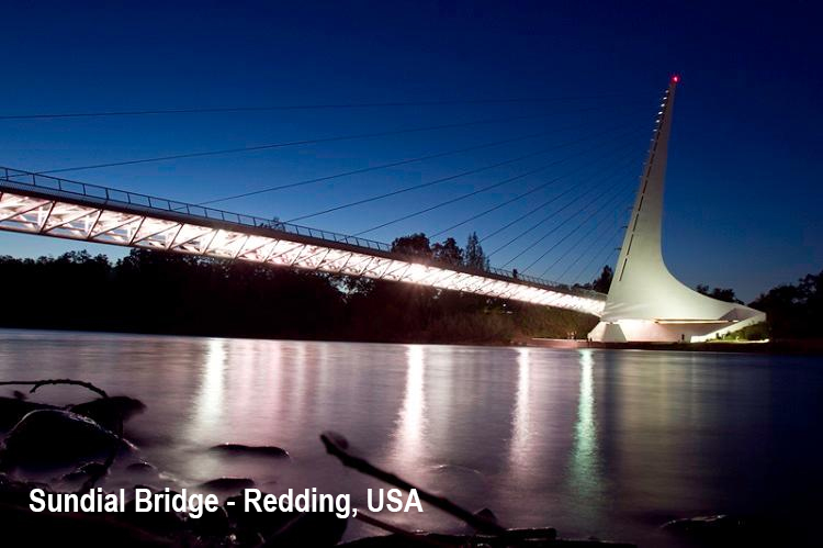 Sundial Bridge - Redding, USA-led (1)