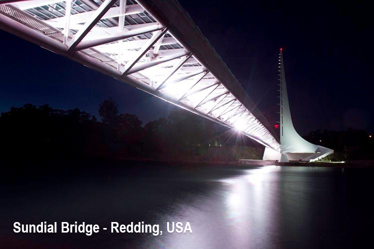 Sundial Bridge - Redding, USA-led (2)