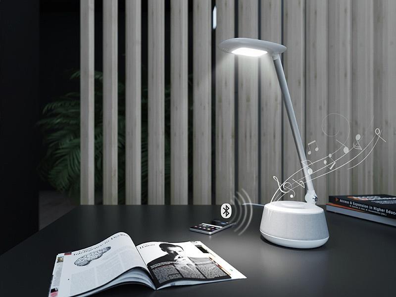 LED stolní lampa s bluetooth reproduktorem
