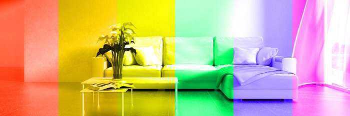 různé světelné barvy