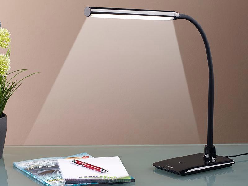 LED stolní lampa černá