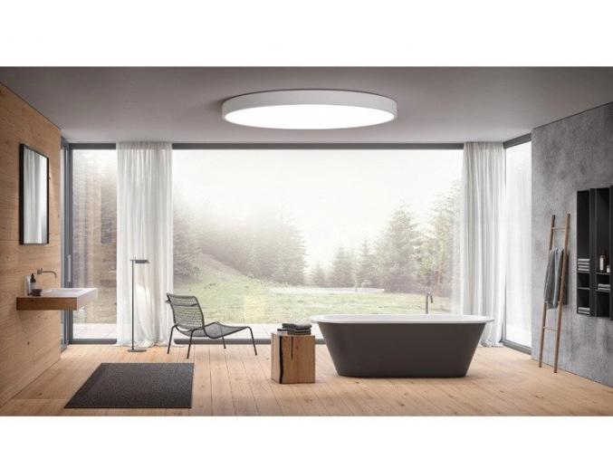 bílý designový LED panel 500mm 36W teplá bílá