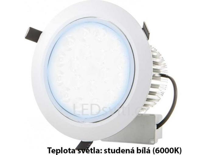 LED bodové svítidlo 7x 1W studená bílá