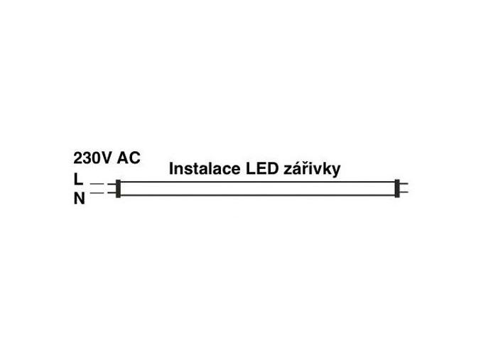 LED zářivkové těleso 150cm + 2x LED zářivka studená bílá 5280lm