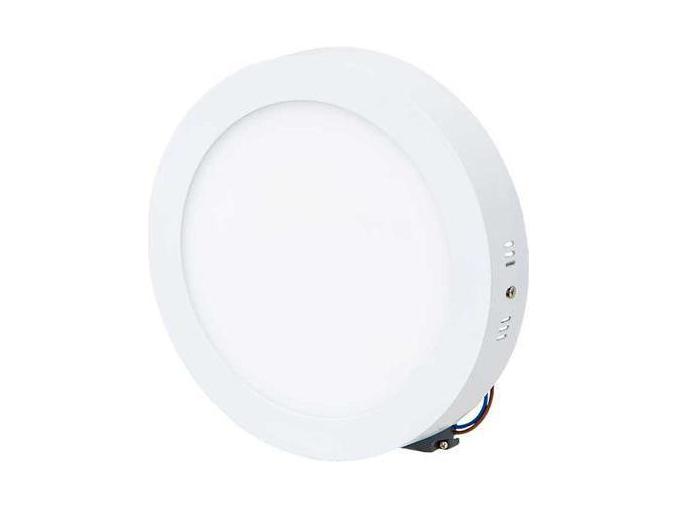 Bílý přisazený LED panel 225mm 18W bílá