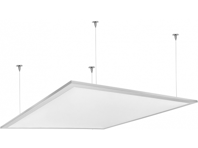 Bílý závěsný LED panel 600 x 600mm 48W studená bílá
