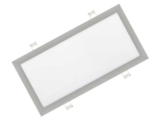 Stříbrný vestavný LED panel 300 x 600mm 30W denní bílá