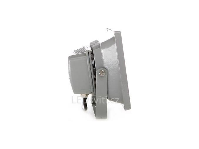 Stříbrný LED reflektor 24V 20W denní bílá