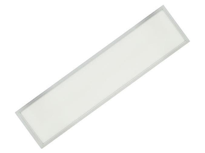 stříbrný podhledový LED panel 300 x 1200mm 48W studená bílá