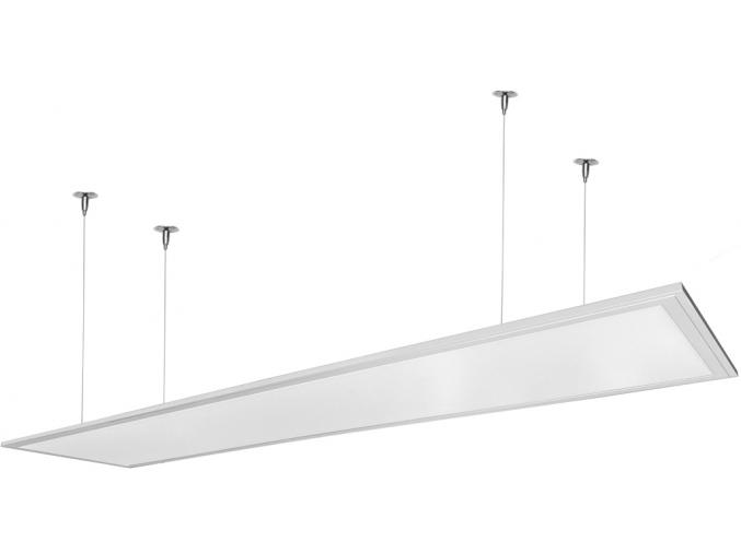 Bílý závěsný LED panel 300 x 1200mm 48W bílá