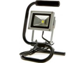 Stříbrný LED reflektor 10W se stojanem bílá