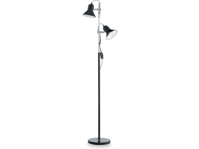 Ideal lux LED polly pt2 nero lampa stojací 2x5W 61139