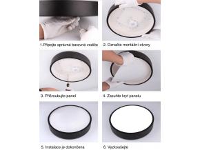 bílý designový LED panel 400mm 24W teplá bílá