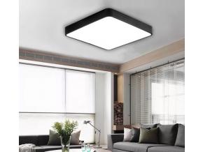Černý designový LED panel 400x400mm 24W teplá bílá