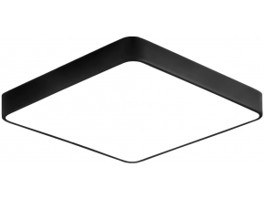 Černý designový LED panel 500x500mm 36W teplá bílá