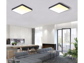 Černý designový LED panel 600x600mm 48W teplá bílá