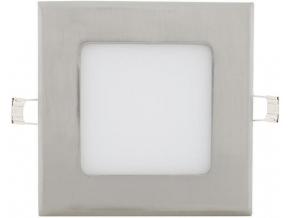 Chromový vestavný LED panel 120 x 120mm 6W denní bílá
