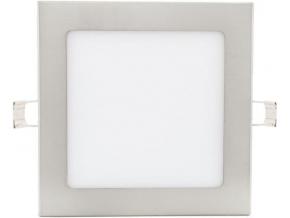 chromový vestavný LED panel 175 x 175mm 12W denní bílá