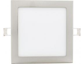 Chromový vestavný LED panel 225 x 225mm 18W denní bílá