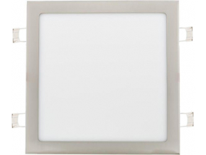chromový vestavný LED panel 300 x 300mm 25W denní bílá