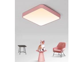Růžový designový LED panel 400x400mm 24W teplá bílá