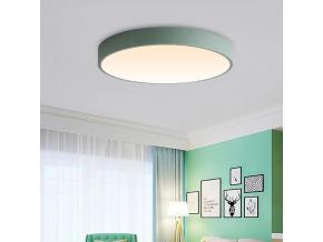 Zelený designový LED panel 400mm 24W teplá bílá
