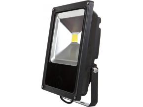 Černý LED reflektor 30W denní bílá 24V AC/DC