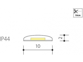 LED páska bi color 14,4W/m IP44 24V