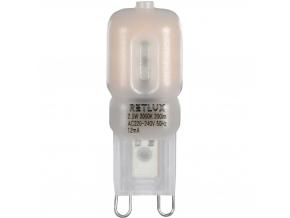LED žárovka RLL G9 2,5 W teplá bílá