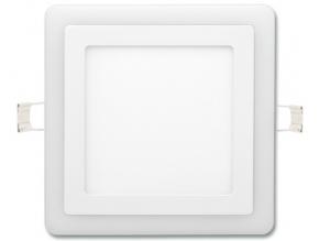 bílý vestavný LED panel duo 195 x 195mm 12W denní + 4W teplá bílá