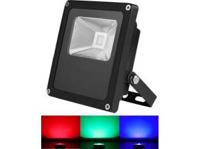 Černý RGB LED reflektor 30W s IR dálkovým ovladačem