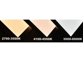 bílý závěsný LED panel 600 x 600mm 45W denní bílá