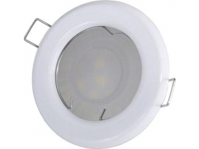 Bílé vestavné podhledové LED svítidlo 5W teplá bílá IP20 230V