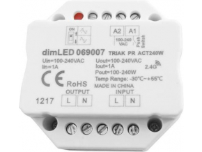 Stmívač dimLED TRIAK PR ACT240W