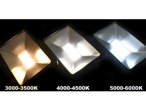 Černý LED reflektor 100W city 5000K denní bílá