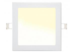 Stmívatelný bílý vestavný LED panel 225 x 225mm 18W teplá bílá