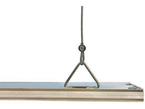 Stříbrný závěsný LED panel 600 x 600mm 45W denní bílá 4300lm