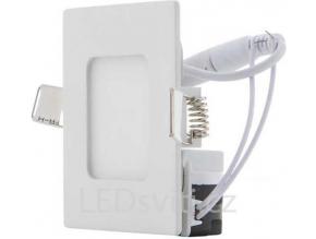 Bílý vestavný LED panel 90 x 90mm 3W teplá bílá