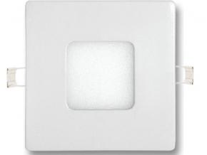 Stmívatelný bílý vestavný LED panel 90 x 90mm 3W teplá bílá