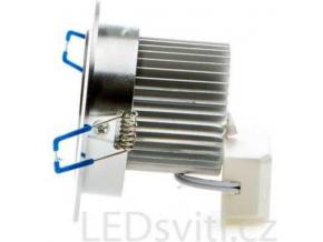 LED vestavné bodové svítidlo 5x 1W teplá bílá