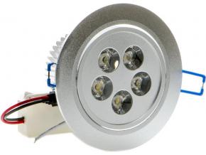 LED vestavné bodové svítidlo 5x 1W studená bílá
