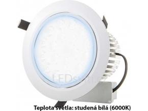 LED vestavné bodové svítidlo 7x 1W studená bílá
