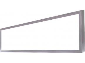 stříbrný LED panel s rámečkem 300 x 1200mm 45W denní bílá
