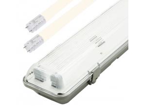 LED zářivkové těleso 150cm + 2x LED zářivka teplá bílá 5180lm