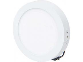 bílý přisazený LED panel 225mm 18W denní bílá