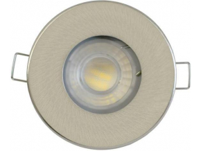 Nikl vestavné podhledové LED svítidlo 5W studená bílá IP44 230V