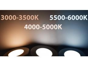 Nikl vestavné podhledové LED svítidlo 7W teplá bílá IP44 230V