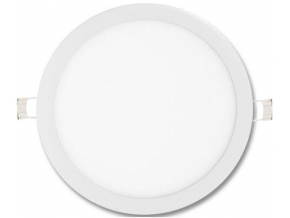 Bílý kruhový vestavný LED panel 600mm 48W denní bílá