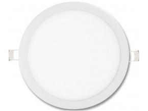 Stmívatelný bílý kruhový vestavný LED panel 600mm 48W denní bílá
